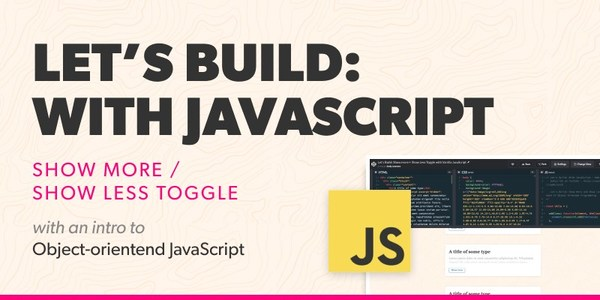 Show More – Show Less Toggle with JavaScript