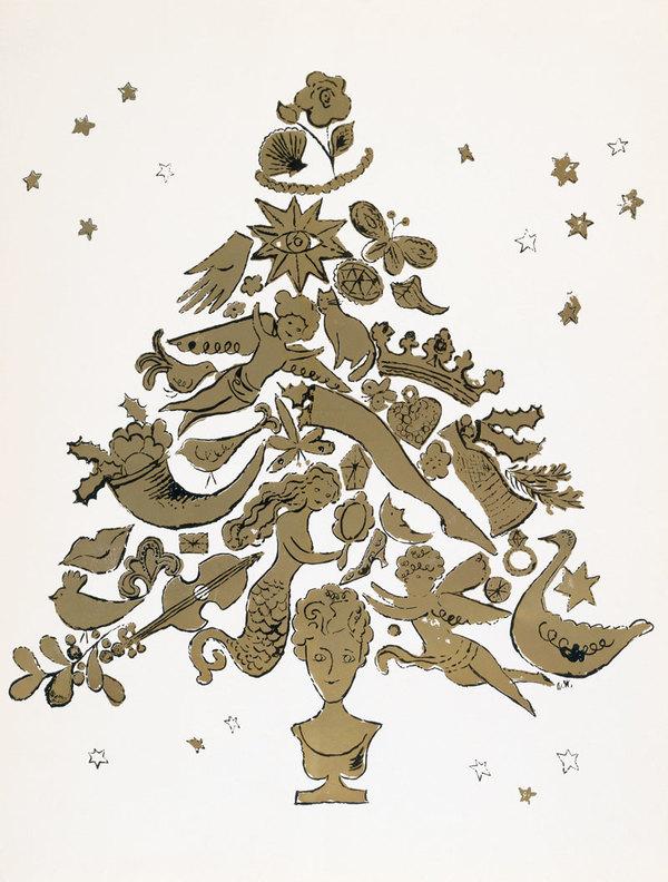 Andy Warhol, Christmas Tree, 1957