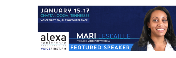 Join me at The Alexa Conference in 2 weeks to discuss voice tech.