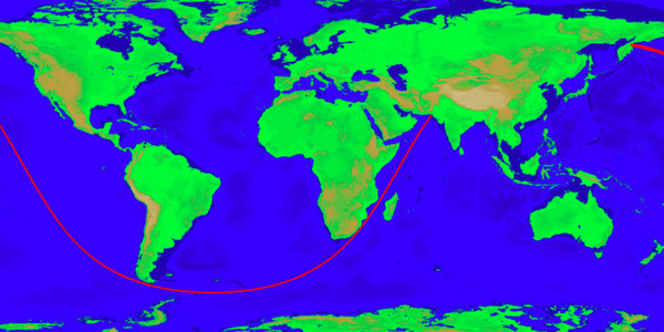 The world's longest straight lines on land and at sea