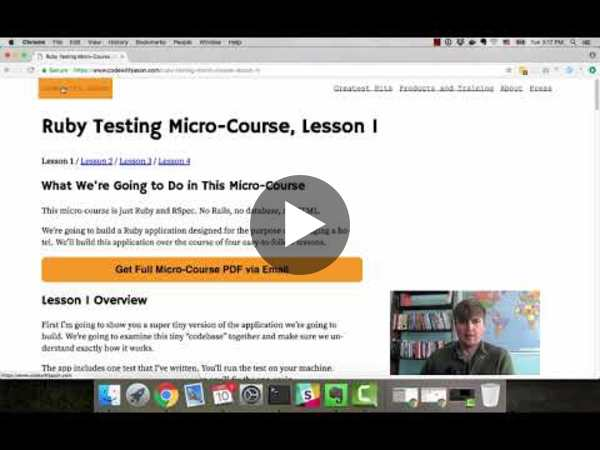 Ruby Testing Micro-Course, Lesson 1