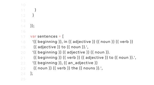 Airbnb's sentence generator
