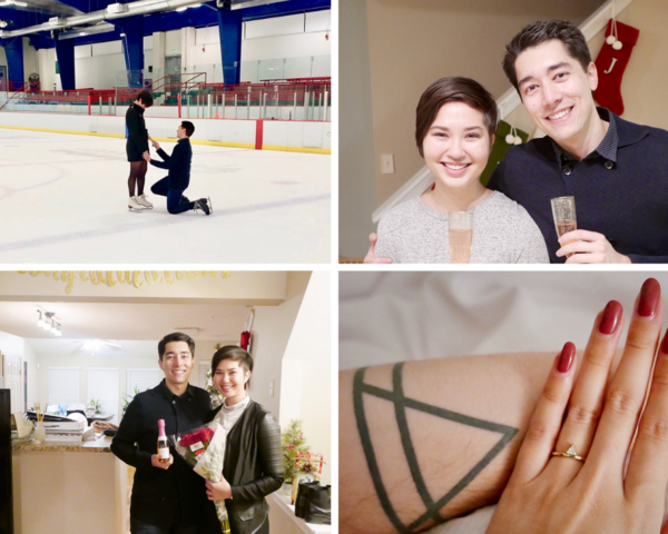 I proposed at the local ice rink