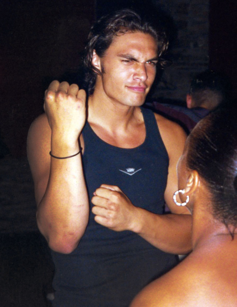 Jason Mamoa at a club in 2001 via The Hollywood Reporter