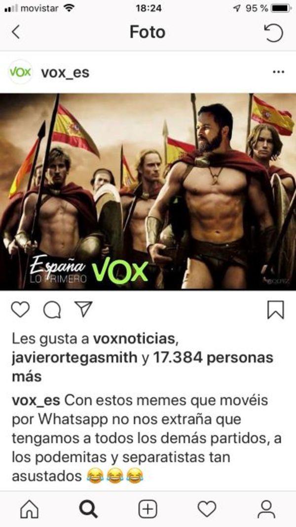 Zo ziet Vox zich zelf graag (beeld van Instagram)