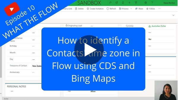 Identify a Contacts' Time Zone in Flow using CDS and Bing Maps