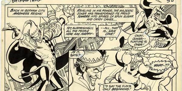 Jose Luis Garcia Lopez - Batman Vs. The Hulk Original Art