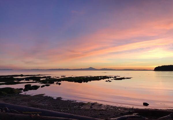 January Morning Reef Bay Mayne Island