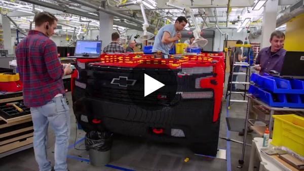 Full-Size LEGO® Silverado | Chevrolet