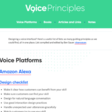 Voice Principles - Guiding principles for voice design, all in one place