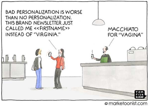 """Personalization"" cartoon 
