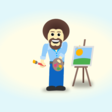 Bob Ross Doing the Floss, Like a Boss (Pure CSS)