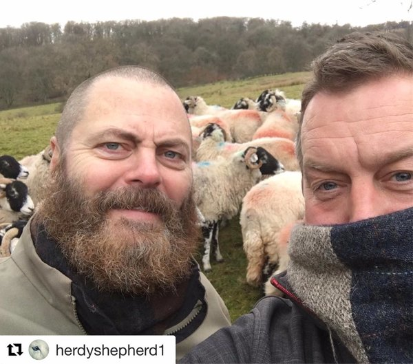 Hollywood's Nick Offerman visits James Rebanks for a taste of Cumbrian Life (The Westmorland Gazette)