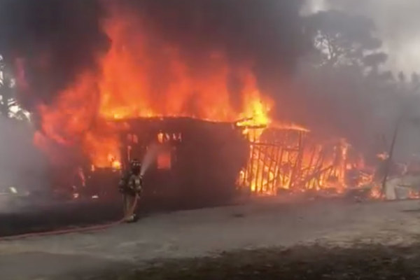 Fire pit likely the cause of this gnarly fire that destroyed Crestview shop (video)