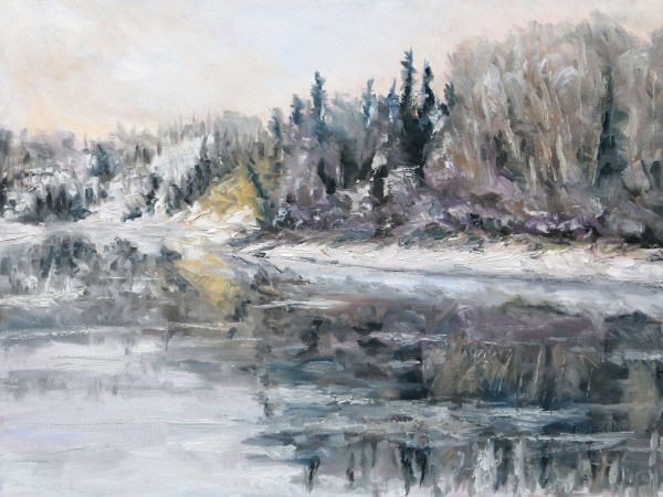 Winter Freeze Up Stuart River BC by Terrill Welch | Artwork Archive