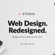 STUDIO | Design to live website in one click.