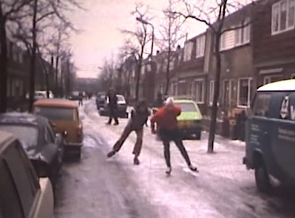40 jaar geleden schaatsten we op straat…   De Orkaan