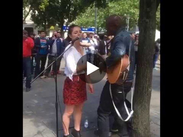 Part 2 Watch singer Seal Join Street Musician For duet in manchester