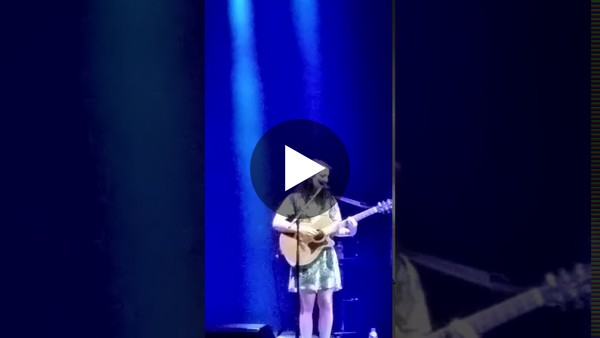 Watch singer Seal introducing Street Musician Poppy on stage in Manchester