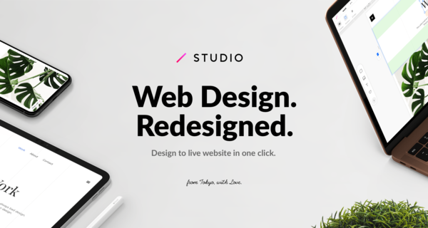 STUDIO — From Design to Live Website in One Click