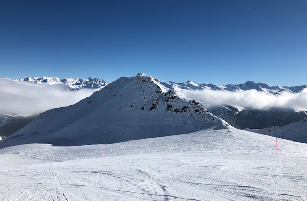 Davos, when nobody else is on the mountain.