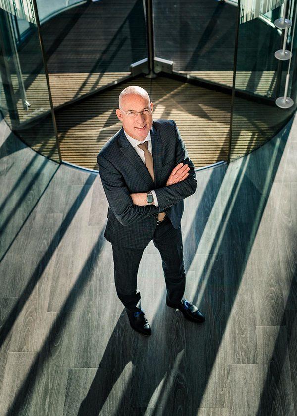 Portretteerde ik Martin Houben, directeur van Rabobank 's-Hertogenbosch en omstreken.