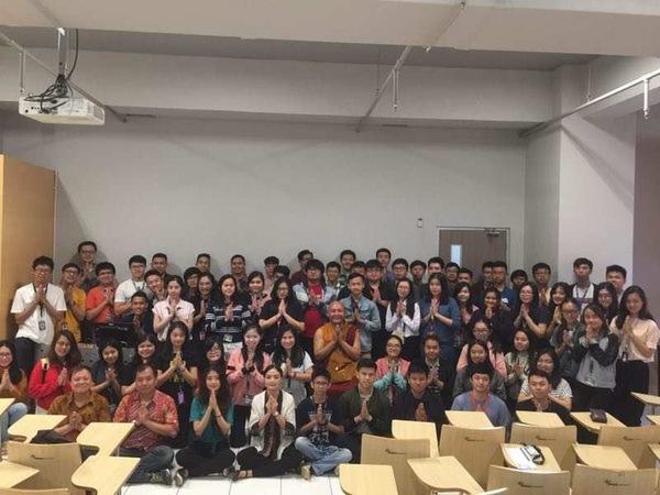 Khenpo Gyaltsen in BINUS University Jakarta