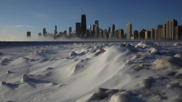 In Chicago daalden de temperaturen tot diep onder het vriespunt