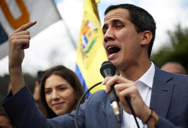De Venezolaanse oppositieleider Juan Guaidó (foto: Reuters)