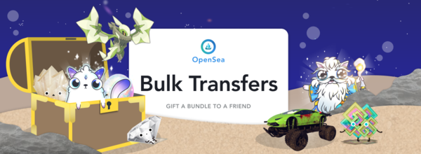 Bulk transfers! Gift a mixed bundle of crypto collectibles in a single transaction