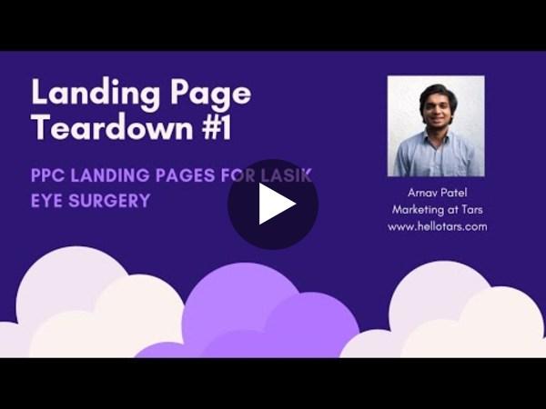 Landing Page Teardown - LASIK Industry
