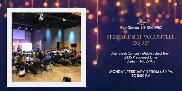 Do you serve in the Stewardship Ministry or would like to learn more? Join us on Feb. 11! Click the image above for more details and to RSVP.