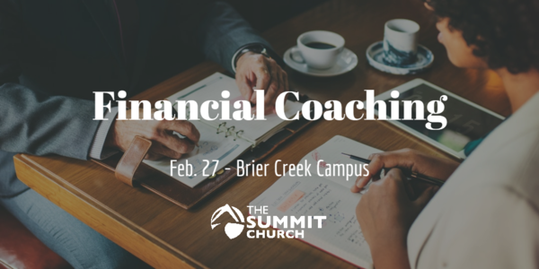 Meet with one of our trained volunteer financial coaches on Feb. 27 to talk through how to put Jesus first in your finances. Click the image above to register.