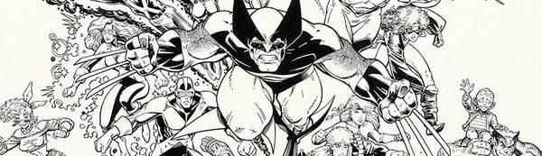 Arthur Adams - X-Men Poster Original Art