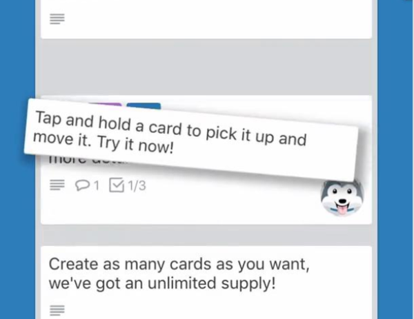 Onboarding with default content