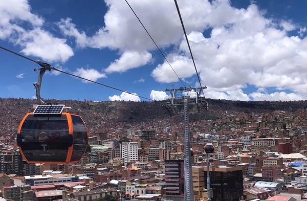 De kabelbaan in La Paz: de Teleferico