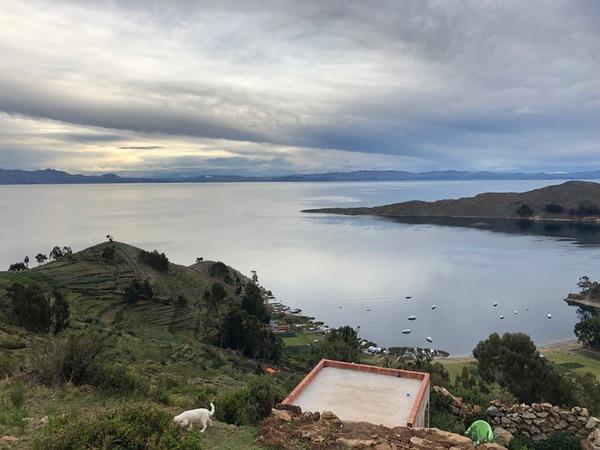 Uitzicht op Isla del Sol