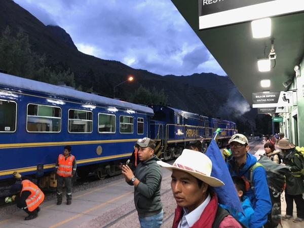 De kuttrein naar Machu Picchu