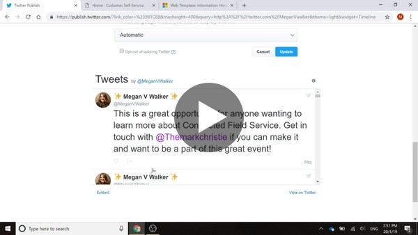 Embed A Twitter Feed - Microsoft Portals
