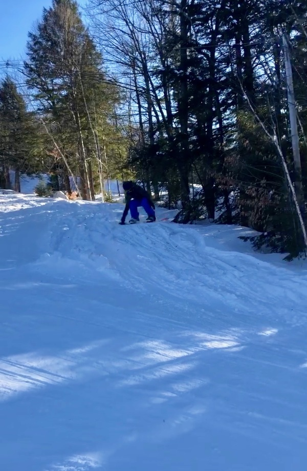 A still photo from snowboarding this weekend