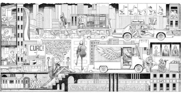 Comic book artist Sergio García Sánchez - A Day in the CIty