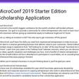 MicroConf 2019 Starter Edition Scholarship Application