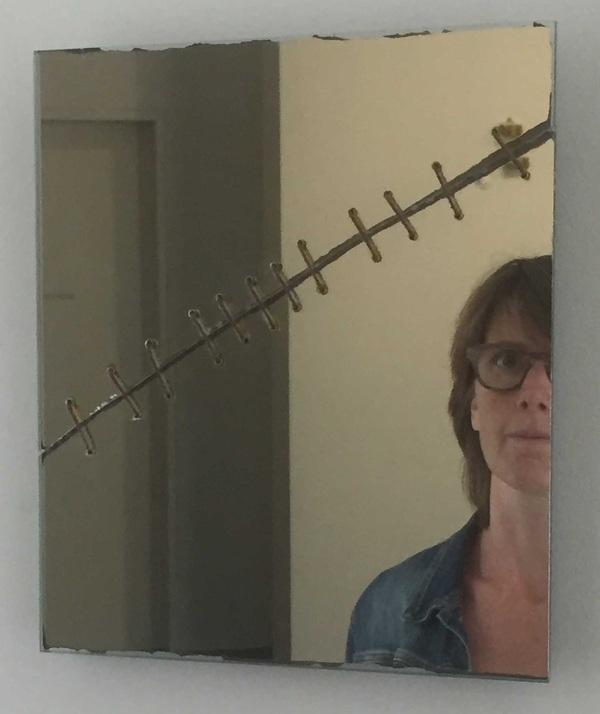 Repaired Broken Mirror by Kater Attia (selfie in S.M.A.K. Gent)