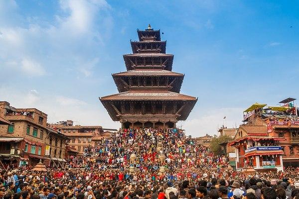 Bhaktapur, Népal. Photo Wikipedia - Nrik Kiran, CC BY-SA 4.0.