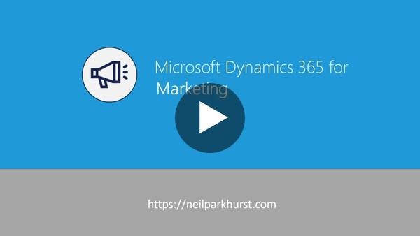 Dynamics 365 for Marketing Demo