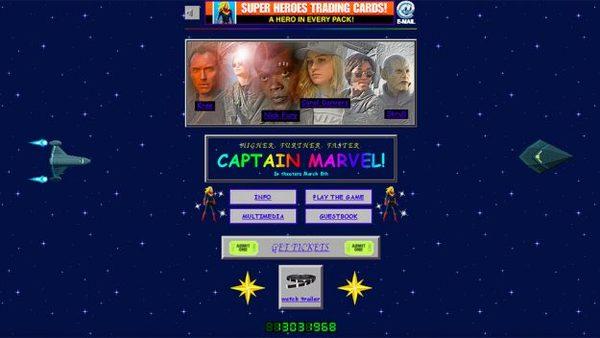 De Captain Marvel-website is een throwback naar de 90's - WANT