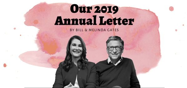 "Bill & Melinda's 2019 annual letter was one of ""surprises"" (Gates Foundation)"