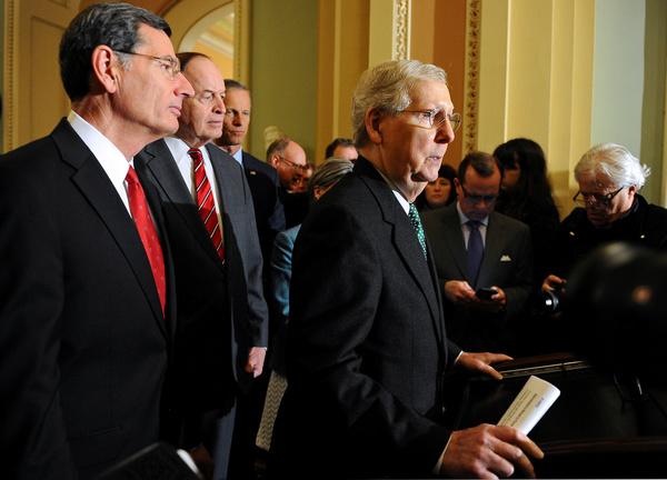 Mitch McConnell maakte dinsdag bekend dat de Democraten en Republikeinen een begrotingsdeal hebben bereikt om een shutdown te voorkomen (foto: Reuters)