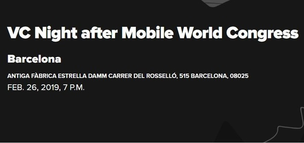 Secure your ticket for Startup Grind's VC Night after Mobile World Congress now & get a 40% discount with the code: BarcinnoRocks