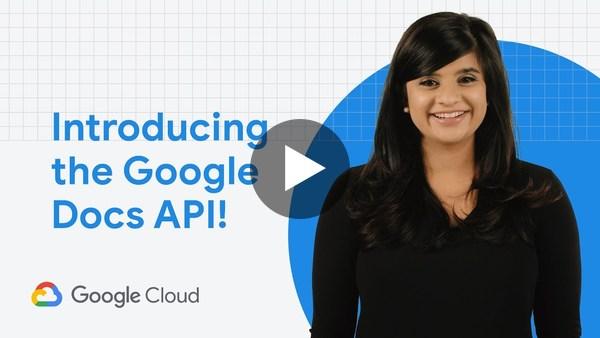 Introducing the Docs API!